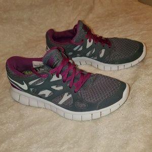 Gray & Purple Nike Free Runs 3 size 7.5